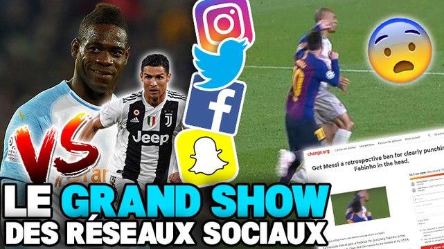 Mario Balotelli tacle CR7, la célébration polémique de Benjamin Mendy, une pétition contre Lionel Messi : le Grand Show des Réseaux Sociaux