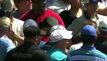 Golf - Rory McIlroy's tee shot landed in the pocket of a spectator