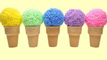 Learn Colours Play Foam Ice Cream Surprise Eggs Toys Minions Zootopia Toy Story Moomin