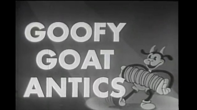 Goofy Goat Antics - Vintage 1931 Cartoon