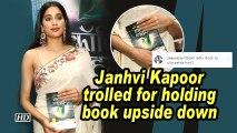 Janhvi Kapoor trolled for holding book upside down
