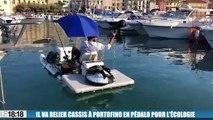 Antonio Cefallielo va relier Cassis à Portofino en pédalo pour l'écologie