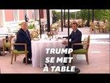 """Donald Trump et Emmanuel Macron """"se chamaillent un peu"""" mais s'entendent bien"""