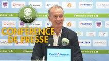 Conférence de presse Clermont Foot - AJ Auxerre (1-1) : Pascal GASTIEN (CF63) - Jean-Marc FURLAN (AJA) - 2019/2020