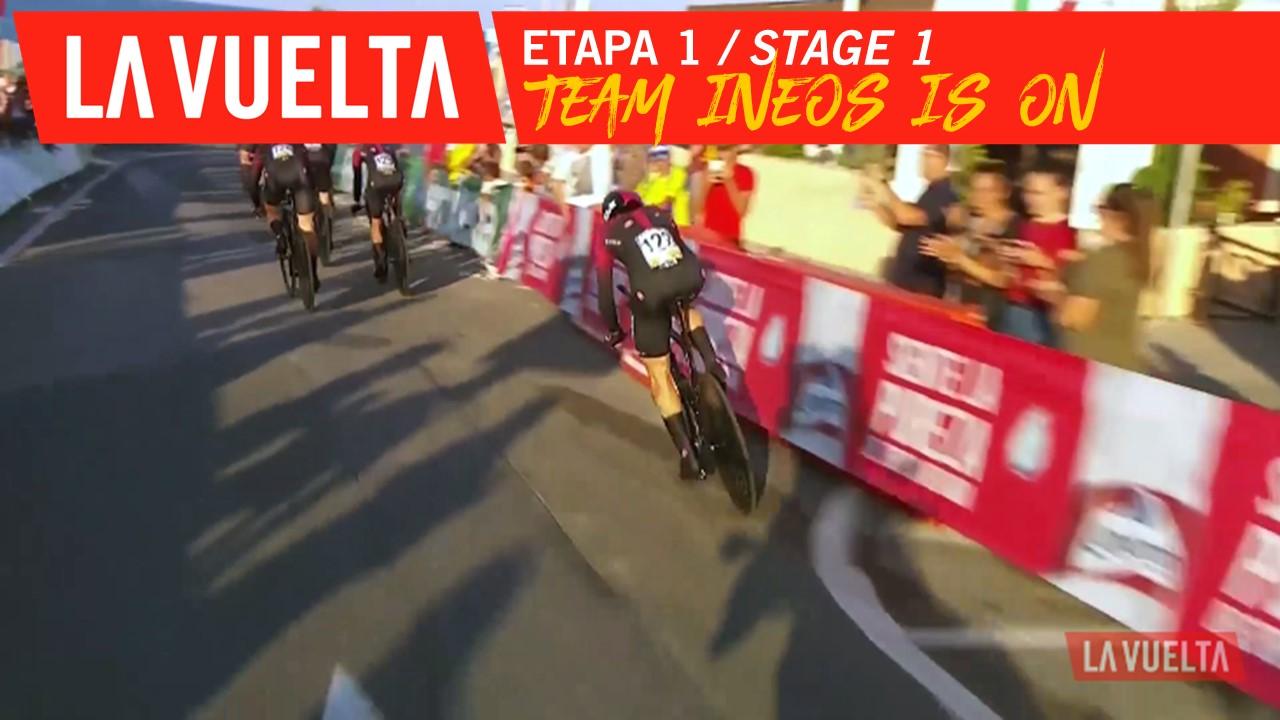 Team Ineos entre en lice / Team Ineos is on - Étape 1 / Stage 1 | La Vuelta 19