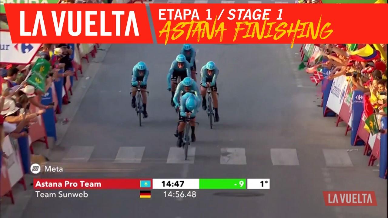 Arrivée d'Astana Pro Team / Astana Pro Team finishing - Étape 1 / Stage 1 | La Vuelta 19