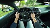 Mercedes AMG GT C vs Aston Martin Vantage 0-300km/h ACCELERATION Sound & AUTOBAHN POV by AutoTopNL