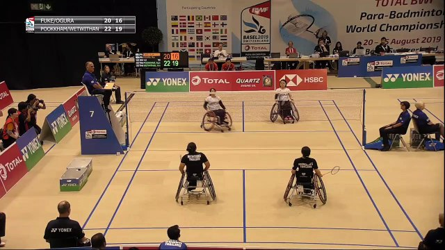 LIVE Total BWF Para-Badminton World Championships 2019 - QF / SF - Wheelchair Hall | DAY 05