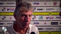 Après le match, Amiens SC - FC Nantes - Christian Gourcuff ( 1 - 2)
