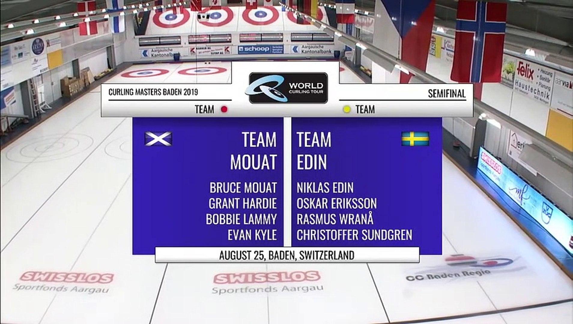 World Curling Tour, Baden Masters 2019, Team Mouat (SCO) vs Team Edin (SWE), Semifinal