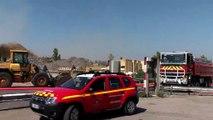 Gignac: des images de l'incendie dans un entrepôt zone de l'aiguille