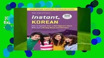 [GIFT IDEAS] Instant Korean: How to Express Over 1,000 Different Ideas with Just 100 Key Words