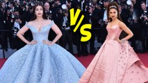 Aishwarya Rai Cinderella Gown VS Deepika Padukone Barbie Doll Look | Fashion Face-Off