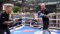 HARD HITTING HEAVYWEIGHT LUCAS BROWNE LOOKING TO NAIL DAVE ALLEN - HAMMERS PADS AHEAD OF CLASH