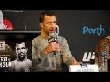 UFC 221: Luke Rockhold talks Yoel Romero & Robert Whittaker