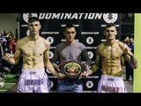 Domination Muay Thai 20: Smith vs. Gough - weigh-ins
