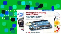 About For Books  Programming Arduino: Getting Started with Sketches, Second Edition (Tab)  Best
