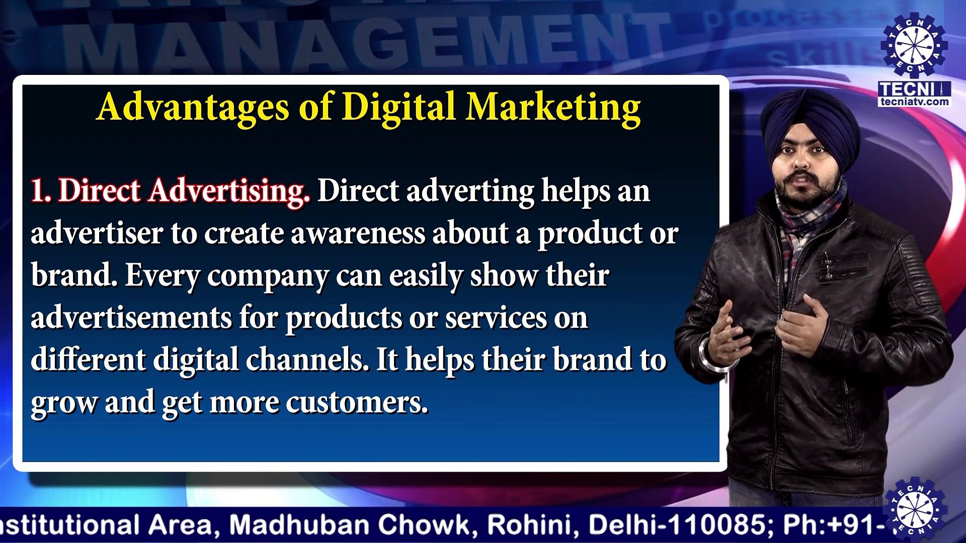 Advantages & Challenges of Digital Marketing | Mr. Inderpreet Singh | BBA | TIAS | Tecnia TV