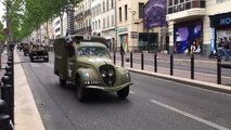 Marseille : défilé des véhicules qui ont participé au débarquement de Provence en 1944