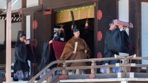 Japan's Emperor Naruhito performs first ritual since accession to the throne