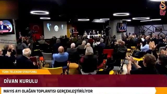 Galatasaray Divan Kurulu Toplantısı'nda Ekrem İmamoğlu'na destek