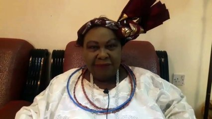 Our man, Dapo Akinrefon, speaks with elder statewoman, Chief Mrs Rita-Lori Og...
