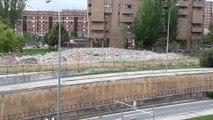 Derribo túnel Duques de Nájera en Logroño