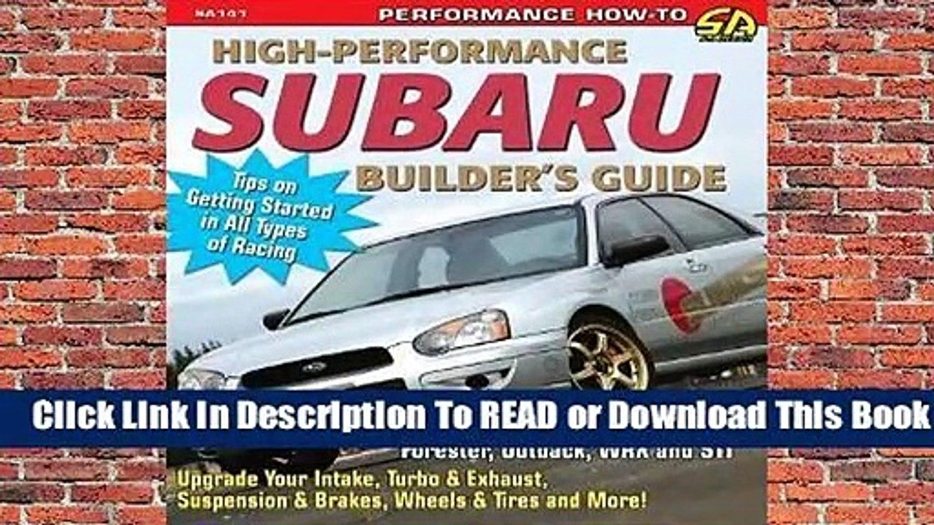 High-Performance Subaru Builders Guide