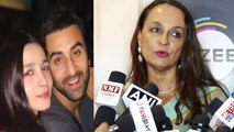Alia Bhatt's mother Soni Razdan REACTS on Ranbir Kapoor & Alia Bhatt's Lake Como marriage |FilmiBeat