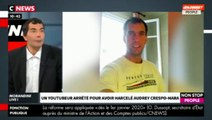 "Morandini Live : Audrey Crespo-Mara porte plainte contre un youtubeur ""gilet jaune"" (vidéo)"