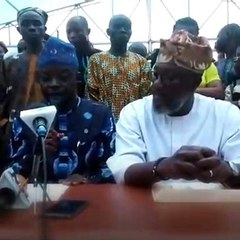 The DG, Allied Peoples Movement (APM) in Ogun State, Sarafa Tunji Isola, disp...