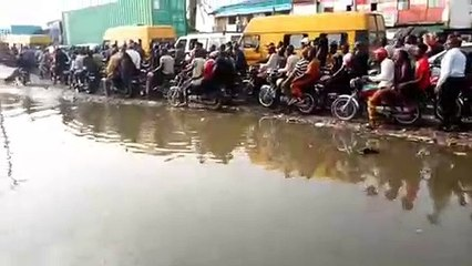 Imagine plying this road on a daily basis Sadly, this is how some people deal daily in one part of Lagos