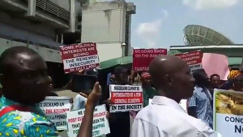Seasoned Nollywood stars led by Ejike Asiegbu protest killing in Northeast Nigeria at National Stadium, Surulere, Lagos