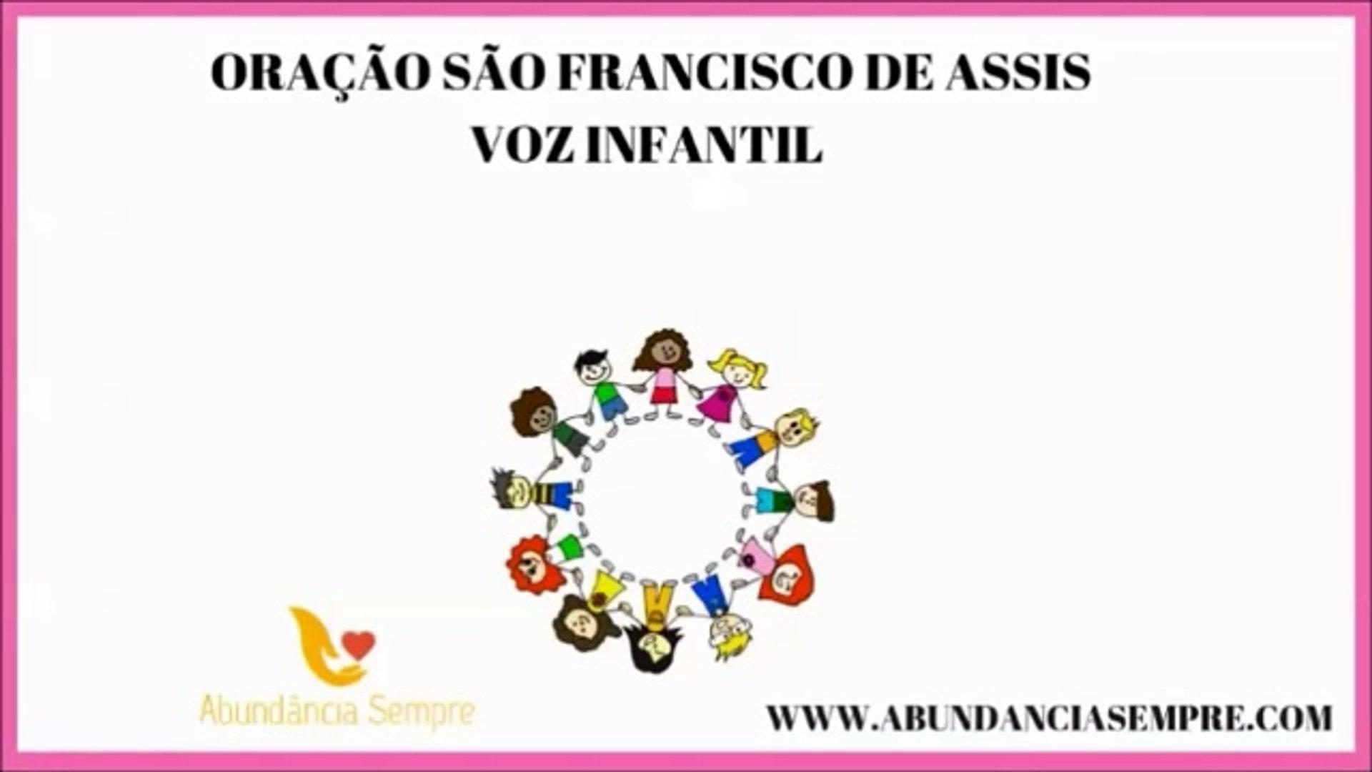 Oracao Da Paz Sao Francisco Por Maria 4 Anos Video Dailymotion