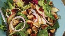 Apple, Walnut and Bacon Green Salad