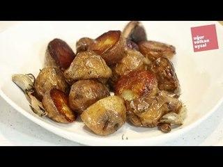 Fırında Elma Dilimli Enfes Patates Kızartması Tarifi