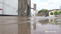 Mississippi River starting to recede in town hit hard by flooding