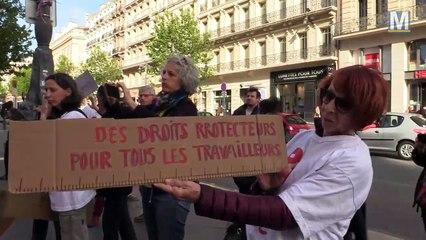 Action de rue d'ATTAC sur la Canebière