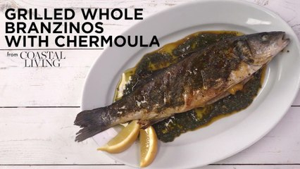 Grilled Whole Branzinos with Chermoula
