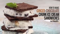 How to Make Ginger-Chocolate Chunk Ice Cream Sandwiches