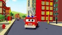 La Super Patrouille, camion pompier et voiture de police, et le Camion-citerne à Car City