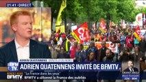 """Européennes: """"Emmanuel Macron joue sa survie politique et il a besoin de créer ce duel"""", Adrien Quatennens"""