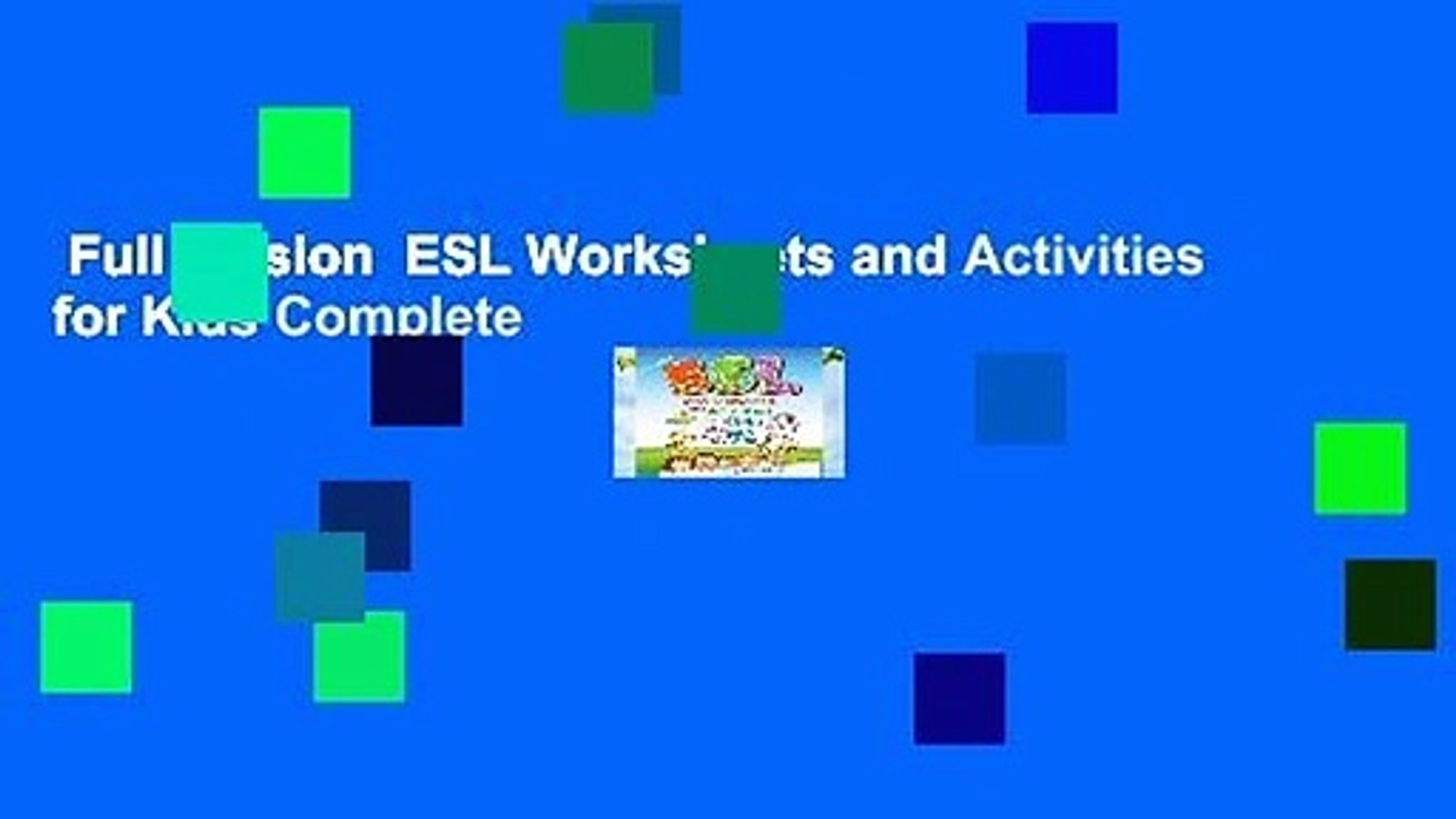Full version  ESL Worksheets and Activities for Kids Complete