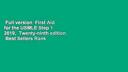 Full version First Aid for the USMLE Step 1 2019, Twenty