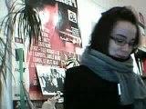 Essai de webcam avec Sophie