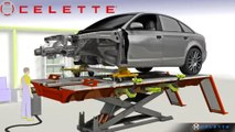 Car frame machine Celette Griffon lifting table and MZ system, measuring system, universal jig