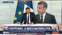 Européennes: le match Emmanuel Macron/Marine Le Pen (1/2)