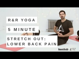 YOGA FOR LOWER BACK PAIN VIDEO | 5 MINUTE REST & RECOVERY FLOW