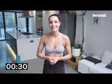 Kayla Itsines Intermediate Workout | No Kit Abs + Arms Session