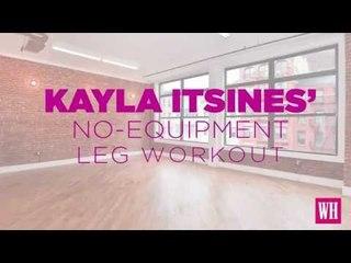 Kayla Itsines No Equipment Legs Day Workout